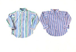 Lot of 2 Ralph Lauren Boys Size 5 Long Sleeve Button Down Shirts 100% Cotton  - $17.81