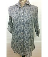 New With Tag Women's Top About A Girl Button Up Long Sleeves Size XS - G... - $9.99