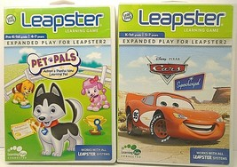 Leapster 2 Learning Game - Pet Pals Adopt A Playful New Pal & Cars Super... - $13.37