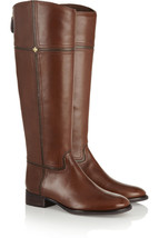 Tory Burch Brown Juliet Leather Riding Boots sz 5 new - $231.20