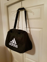 Adidas Black Sport Tote Exercise Gym Overnight Duffle Bag - $19.75