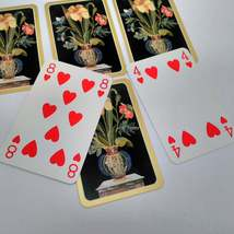 6 Flowers in Vase Playing Cards by Caspari for Crafting, Re-purpose, Up-cycle, V image 2