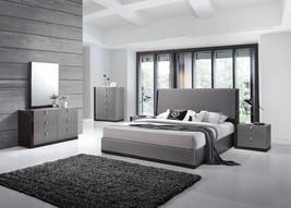 J&M Sorrento King Size Bedroom Set 5pc. Chic Modern Style Design