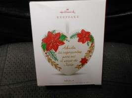 "Hallmark Keepsake ""Abuela""  2018 Porcelain Orrnament NEW See Details - $4.46"