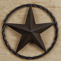 "Metal 12"" Star in Rope Rustic Brown Western Decor - $12.86"