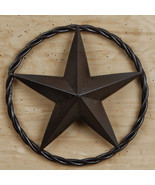 """Metal 12"""" Star in Rope Rustic Brown Western Decor - $12.86"""