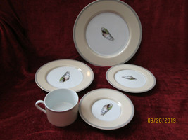Fitz & Floyd Coquillier 5 piece place setting motif A - $49.45