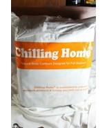 NEW IN BAG CHILLING HOME NATURAL FULL BODY PILLOW BODY CONTOURS DESIGNED... - $55.44
