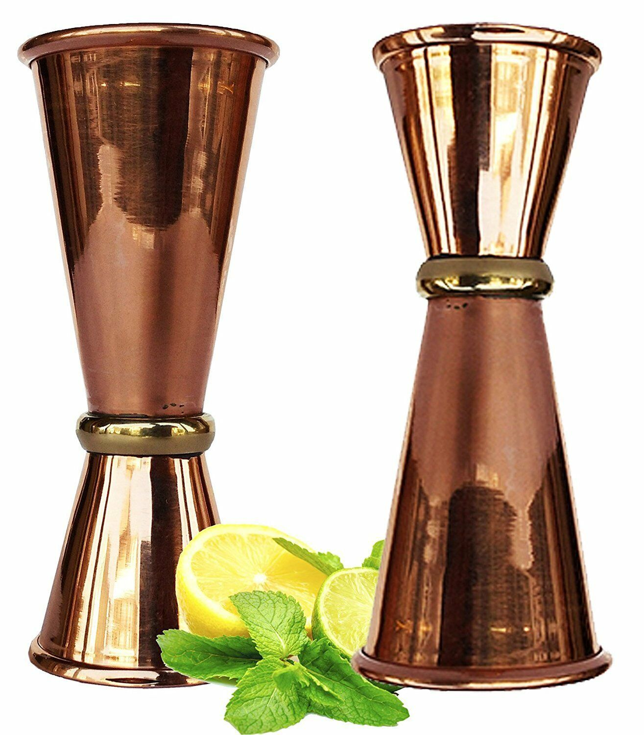Primary image for Copper Double Jigger Cocktail Shot Glasses.Set of 2