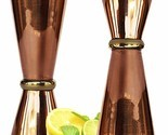 Copper Double Jigger Cocktail Shot Glasses.Set of 2