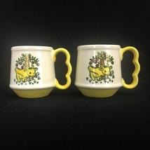 Vintage Metlox Poppytrail Homestead Provincial Cow Pair Of Handled Mugs ... - $37.36