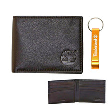 Timberland Men's Leather Billfold Wallet w/ Bottle Opener Key Chain NP0565/01
