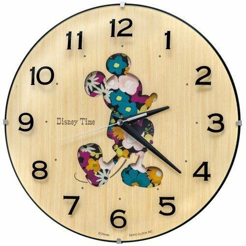 Primary image for Disney Time Mickey & Friends Natural Woodland Wall Clock SEIKO New