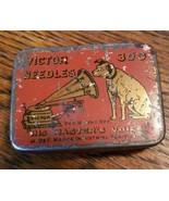 Vintage Victor Phonograph Needles Tin 300 ct - $21.78