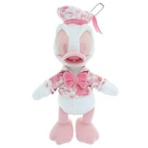 Donald Duck Cherry Blossoms Pink Plush Doll Badge Tokyo Disney Limited J... - $65.44