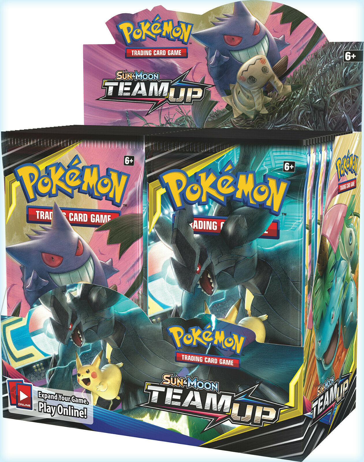 Sun and Moon Team UP Booster Box Case 6 Booster Boxes Sealed Pokemon TCG image 2