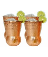 Hand Hammered Pure Copper Tumbler Moscow Mule Mugs Copper Tumbler - £28.44 GBP