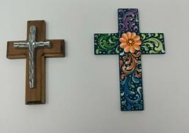 Wall Cross Catholic Wall Crucifix Home Wall Decor Lot Of 2 - $25.18