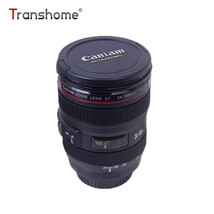 Transhome® Camera Lens Mug 400ml Plastic Caniam SLR Mugs With Lid For Co... - $9.40