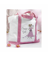 Flower Girl Gifts Large Canvas Tote Bag Wedding Flower Girl Gifts - $14.85