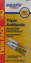 Equate Triple Antibiotic First Aid Ointment, 1 Oz Tubes 4 Tubes [Packaging May V