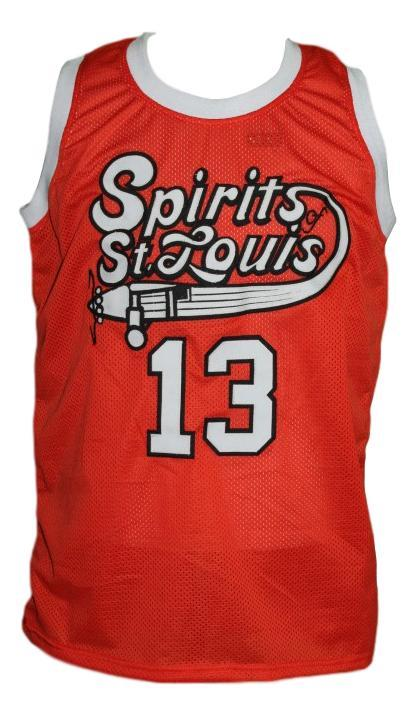 Moses Malone #13 Spirits of St Louis Aba Basketball Jersey New Orange Any Size