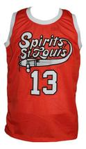 Moses Malone #13 Spirits of St Louis Aba Basketball Jersey New Orange Any Size image 1