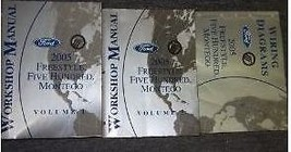 2005 Ford Freestyle Five Hundred 500 Montego Service Shop Repair Manual Set Oem - $118.75