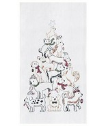 GALLERIE II PUPPY TREE TOWEL CHRISTMAS HOLIDAY DECOR - $9.88
