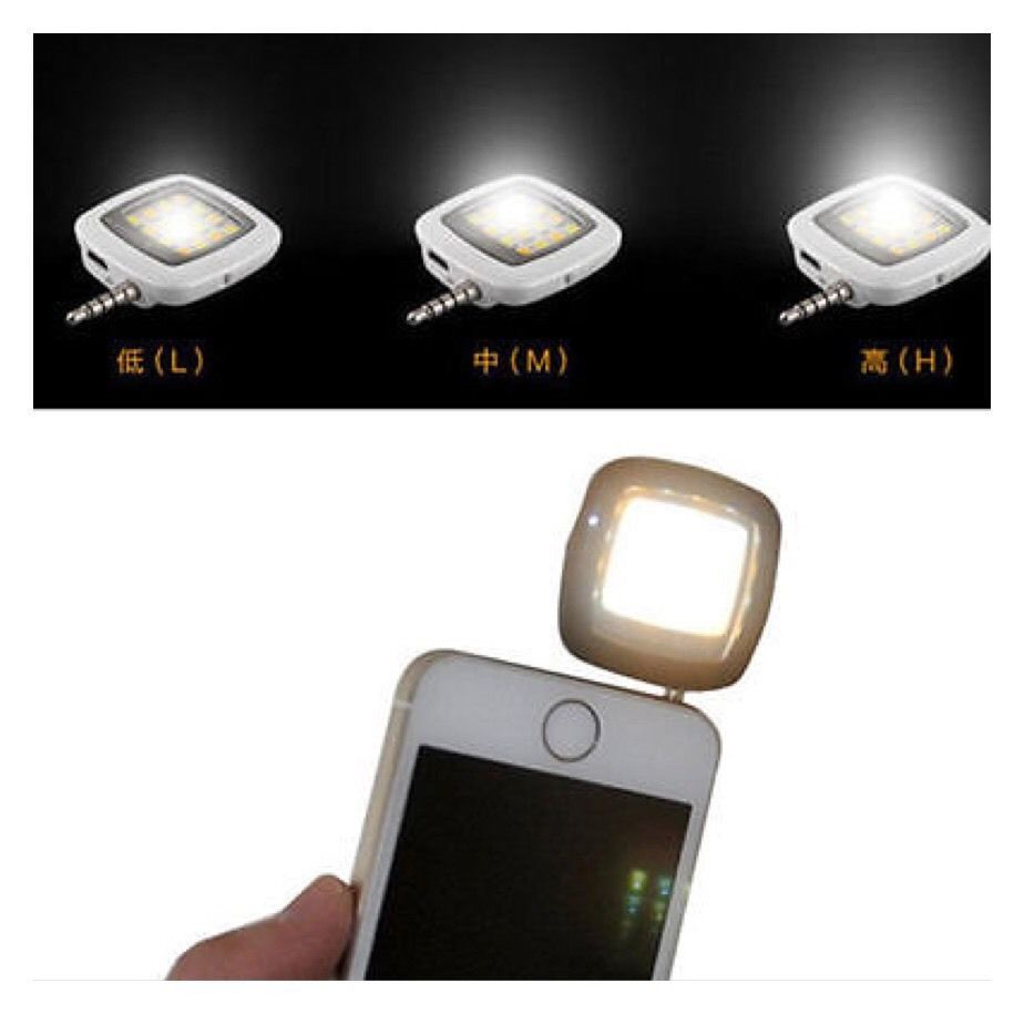 16 LED Selfie Flash Light for Samsung iPhone Smartphone Cellphone AH4