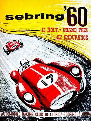 Primary image for 1960 Sebring Grand Prix Race - Promotional Advertising Poster
