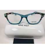 New Nine West NW5126 325 Teal Leopard Eyeglasses 50mm with Case & Cloth - $39.60