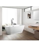 Vanity Art White Acrylic 67-Inch Freestanding Soaking Bathtub - VA6835-L - $854.05