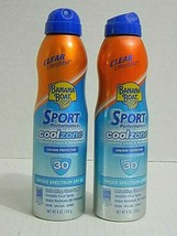 2 each Banana Boat Sport Performance Cool Zone Sunscreen Spray SPF30  6 ... - $7.69