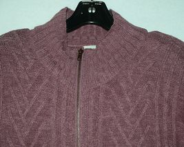Simply Noelle Brand JCKT222Z Womens Mauve Zippered Sweater Jacket Size XXL image 3