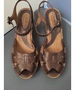 "Clarks Artisan Collection Alameda 84285 Leather Sandal "" Bronze"" Size 8.5 - $29.65"