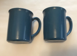 "Set of 2 Vintage Corning Mugs Corning, NY Country Violets Blue 4"" Tall - $24.75"