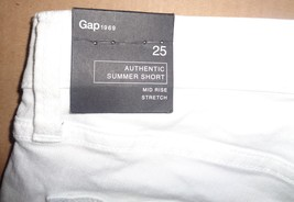 GAP Authentic Summer Short Mid Rise Stretch SZ 0 NWT White - $19.99
