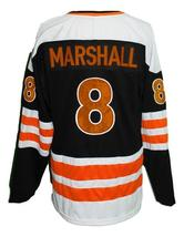Custom Name # Baltimore Blades Retro Hockey Jersey Black Marshall #8 Any Size image 4