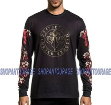 Affliction Black Label Spine A21579 Long Sleeve Fashion Graphic T-shirt For Men - $64.77+