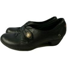 Cobb Hill New Balance Black Leather Dress Casual Block Heel Shoes Women's 8.5 M - $22.77
