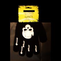 Gothic Stretch Winter Unisex BLACK SKULL GLOVES Punk Pirate Biker-Kids T... - $3.93