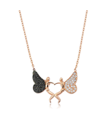 Silver Angel of My Heart Necklace - $38.90