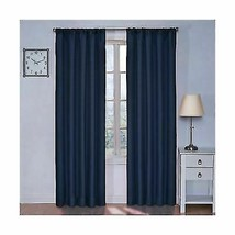 Blackout Thermal Curtain Panel Denim Decor 42'' x 63'' - $17.72