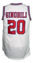 Manu Ginobili #20 Dallas Chaps Retro Basketball Jersey New Sewn White Any Size image 2