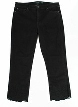 Ralph Lauren Womens  Black Embroidered Cropped SKINNY Jeans BLACK - $22.57+