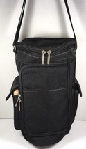 Picnic Time Insulated Triangular Wine Tote Cooler Black - €33,24 EUR