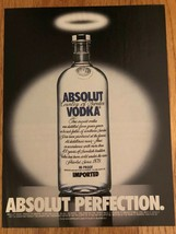 Absolut Perfection Original Magazine Ad - $3.99