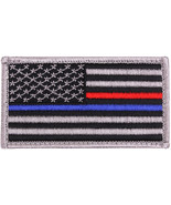 """Thin Blue Line & Thin Red Line US American Flag Hook Patch 1 7/8"""" x 3 3/8"""" - $5.99"""