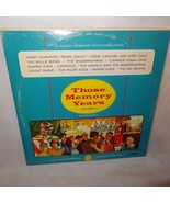 Those Memory Years Volume 2 Record Jimmy Durante Pearl Bailey Record Ray... - $9.99
